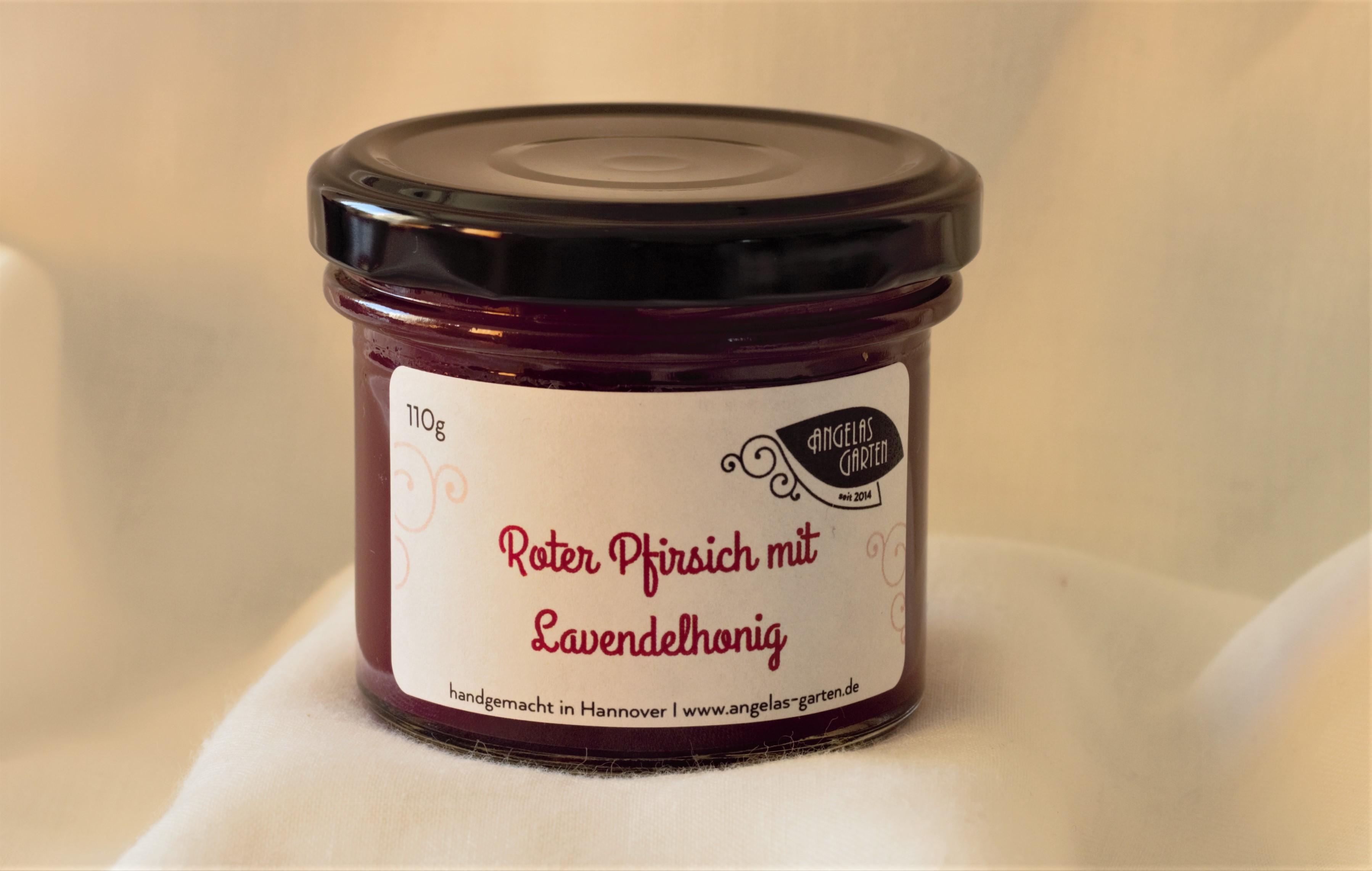 Roter Pfirsich mit Lavendelhonig 110g
