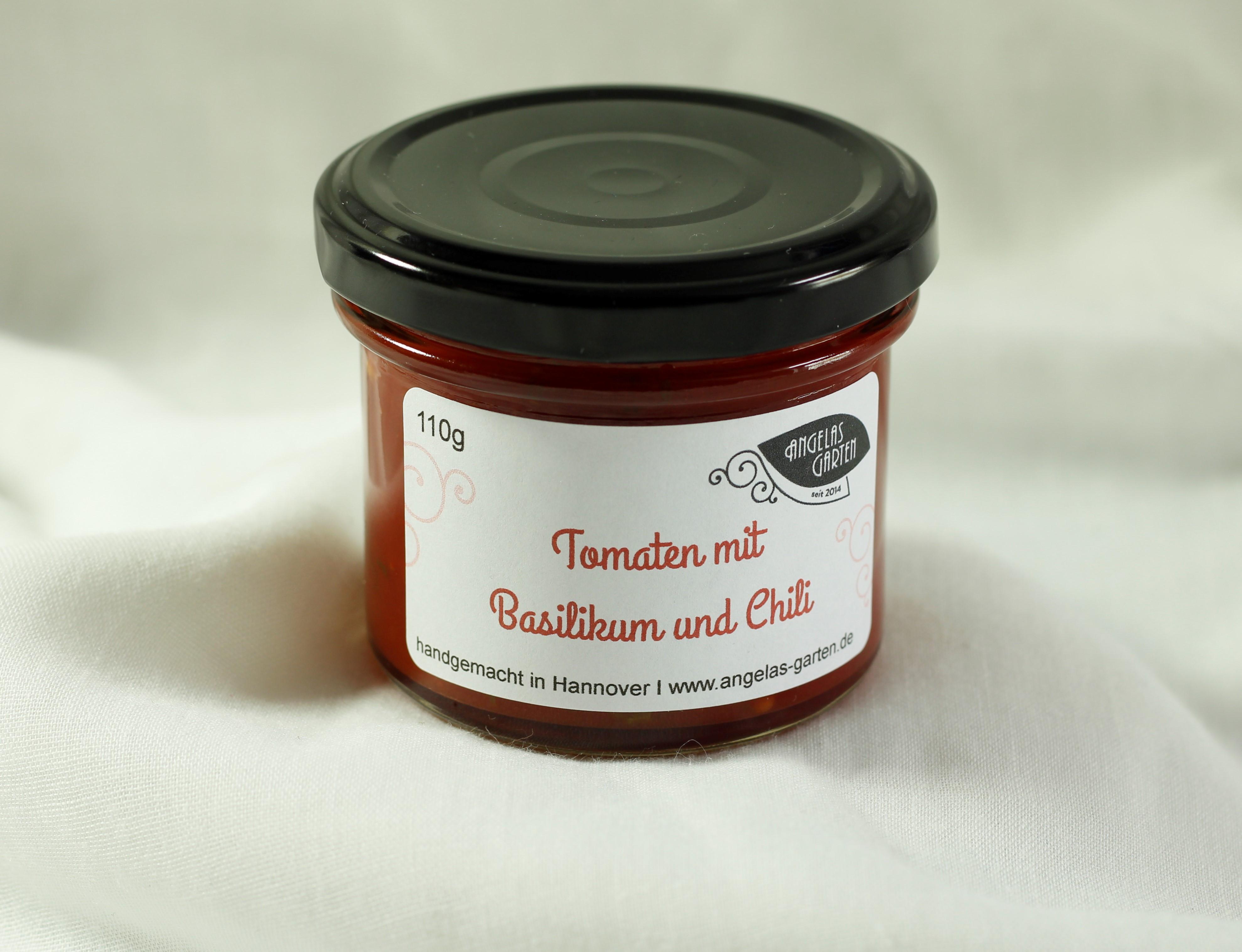 Tomate-Basilikum mit Chili 110g