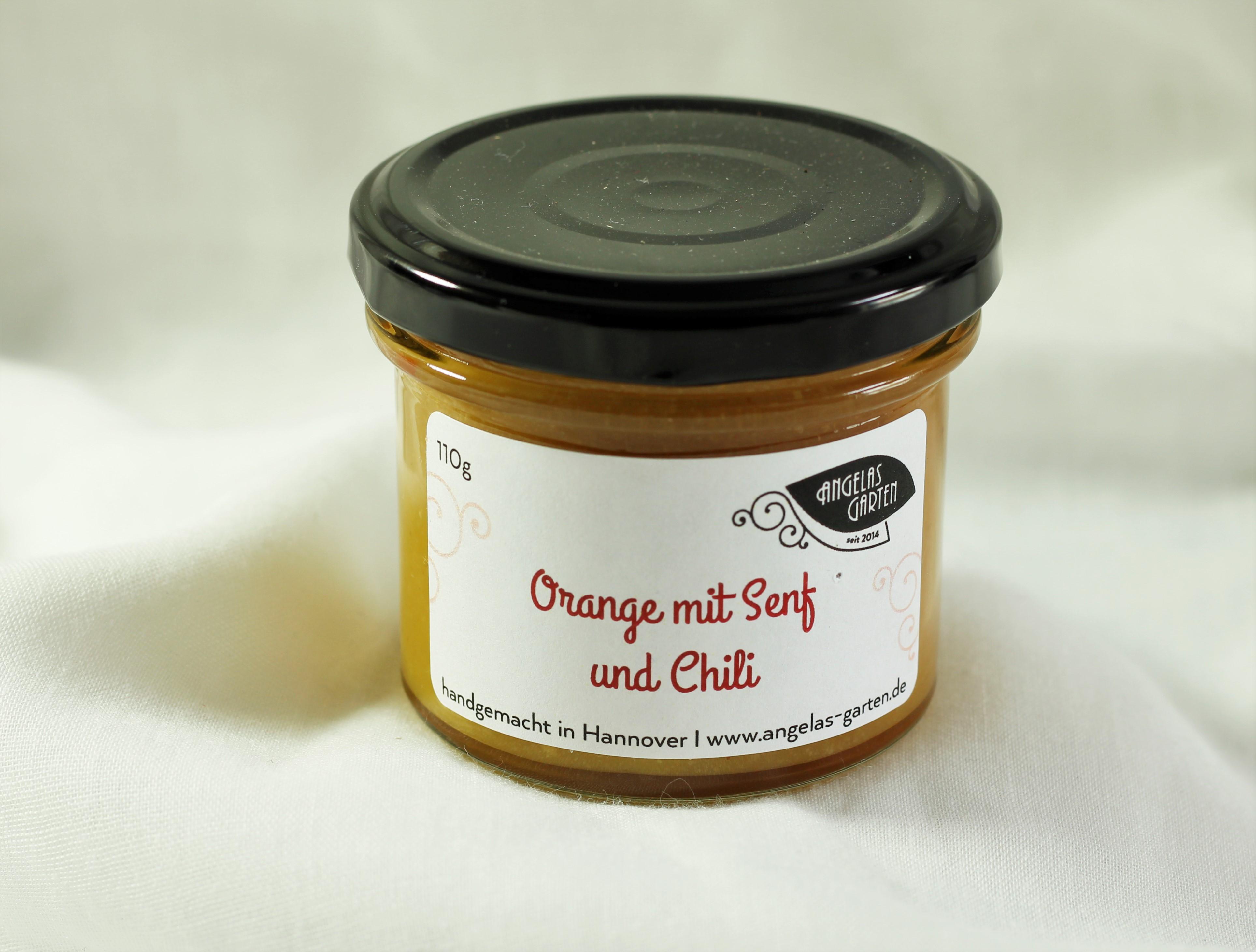 Orange mit Senf und Chili 110g